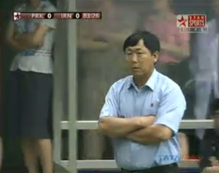 North Korean coach, Kim Jong-hun