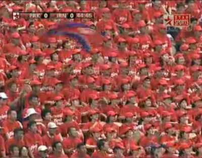 The North Korean fans