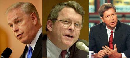 Strickland, DeWine, and Kasich